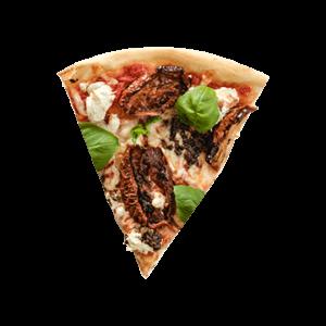 Pizza champignons truffes et tomates sèchées