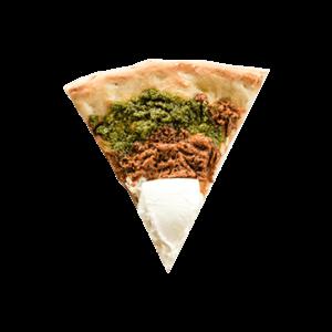 Pizza burrata pesto