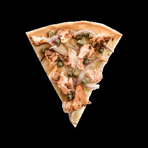 Pizza saumon fumé à chaud